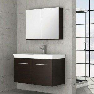 ΣΕΤ Έπιπλο Μπάνιου Κρεμαστό Vanity 105 σε 6 Αποχρώσεις