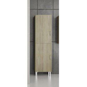 Drop Elm Wood Επιδαπέδια Στήλη Μπάνιου με 2 Πόρτες Μπεζ