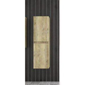 Drop Gold Oak Κρεμαστή Στήλη Μπάνιου με 2 Πόρτες Μπεζ Χρυσό 34χ34χ118