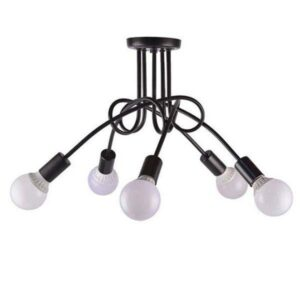 Pauleli 01127 Μοντέρνο Φωτιστικό Οροφής 5φωτο Μαύρο Μεταλλικό
