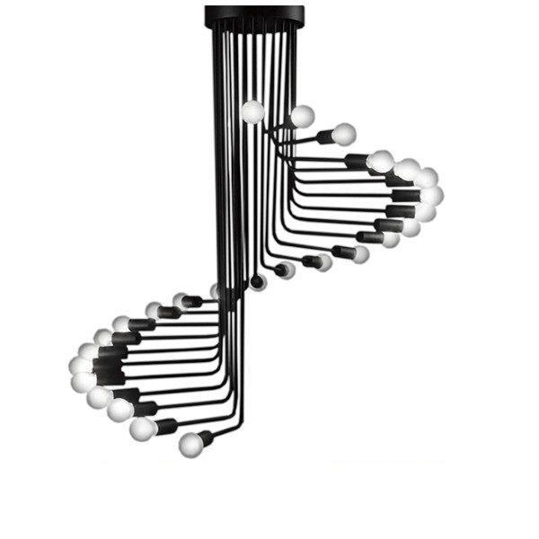 Stairs 01024 Industrial Μαύρο Φωτιστικό Οροφής Πολύφωτο Σκαλοπάτια