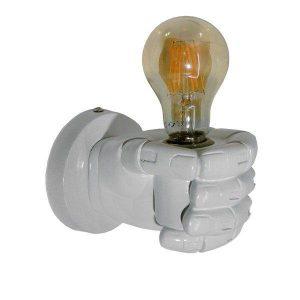 Fist White 01137 Μοντέρνο Φωτιστικό Τοίχου Λευκό Γύψινο Χέρι