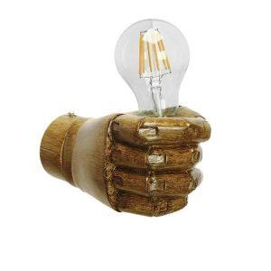 Fist Gold 01138 Μοντέρνο Φωτιστικό Τοίχου Απλίκα Γύψινη σε Στυλ Χρυσό Χέρι