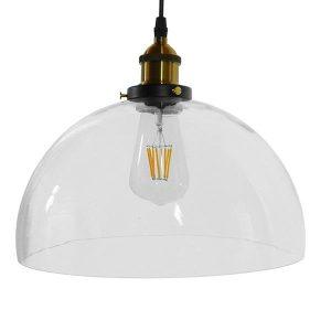 DARCY 01171 Μοντέρνο Κρεμαστό Φωτιστικό Μπολ με Διάφανο Γυαλί Ø30