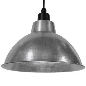 LOUVE 01178 Industrial Ασημί Κρεμαστό Φωτιστικό Καμπάνα Ø39