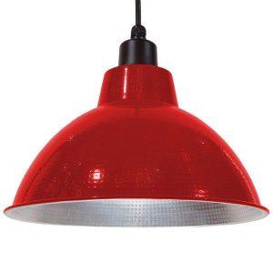 LOUVE 01177 Industrial Καμπάνα Κρεμαστό Φωτιστικό Κόκκινη Ø39