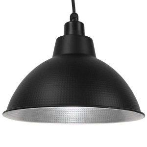 LOUVE 01176 Industrial Μαύρο Κρεμαστό Φωτιστικό Καμπάνα Ø39