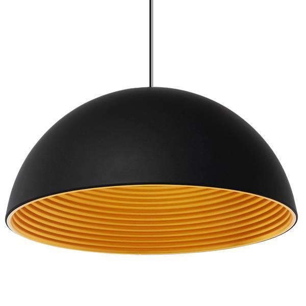 MEDEA 01344 Μοντέρνο Μαύρο Κρεμαστό Φωτιστικό Οροφής Μπολ Ø60