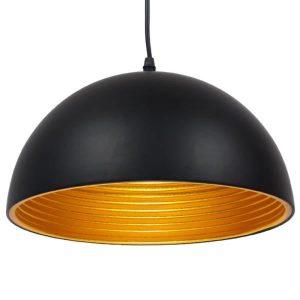 Chime 01004 Industrial Μαύρο Μεταλλικό Κρεμαστό Φωτιστικό Μπολ Ø30