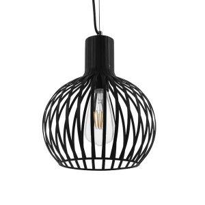 Scandi 01386 Industrial Κρεμαστό Φωτιστικό Μαύρο Μεταλλικό Φ23