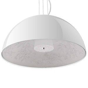 Serenia 01273 Μοντέρνο Άσπρο Γύψινο Κρεμαστό Φωτιστικό Μπολ Φ 90