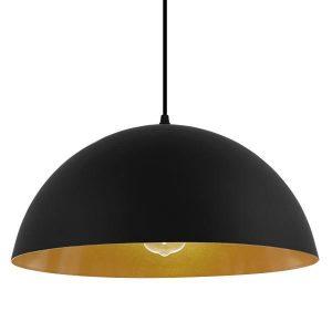 Ciel 01341 Μοντέρνο Μαύρο Κρεμαστό Φωτιστικό Μονόφωτο Μπολ Φ40