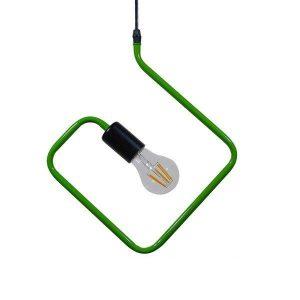 KIDDY RHOMBUS 01096 Μοντέρνο Πράσινο Κρεμαστό Φωτιστικό Ρόμβος Ø31