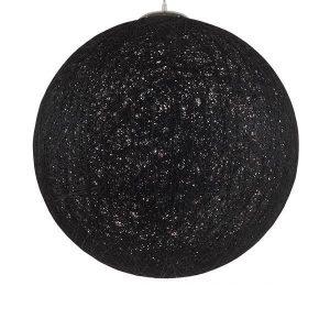 TERELL 01364 Vintage Κρεμαστό Φωτιστικό Ξύλινο Ψάθινο Ραταν Μαύρο Ø60