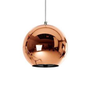 CANDELA 01309 Μοντέρνο Χάλκινο Σφαιρικό Γυάλινο Φωτιστικό Κρεμαστό Ø15