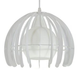 STEPHEN 01225 Industrial Κρεμαστό Φωτιστικό Αράχνη με Λευκό Πλέγμα & Γυαλί Ø26