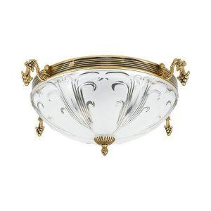 Nowodvorski 4398 Κλασσικό Χρυσό Φωτιστικό Οροφής με Λευκό Γυαλί