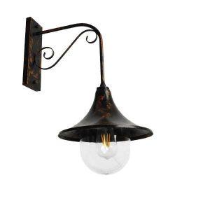 ANNIEL IRON RUST 01124 Industrial Φωτιστικό Τοίχου Καφέ Σκουριασμένο Καμπάνα Φ28