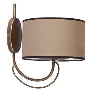 Nowodvorski 4134 Κλασσικό Καφέ Φωτιστικό Τοίχου με Υφασμάτινο Καπέλο Φ24