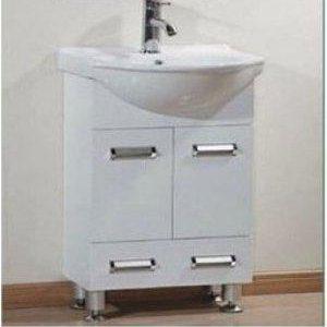 Έπιπλο Μπάνιου με Βάση & Νιπτήρα BALENO DOWN Λευκό PVC 45 cm