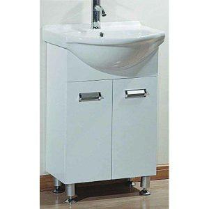 Έπιπλο Μπάνιου με Βάση & Νιπτήρα BORIA DOWN Λευκό PVC 52 cm