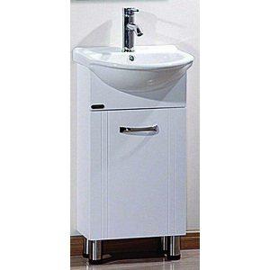 Έπιπλο Μπάνιου με Βάση & Νιπτήρα DANZA DOWN Λευκό PVC 41 cm