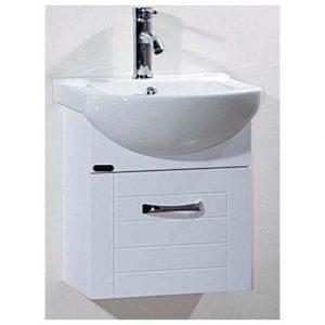 Έπιπλο Μπάνιου με Βάση & Νιπτήρα SCONDO UP Λευκό PVC 44 cm