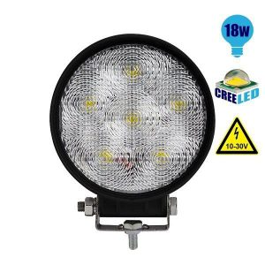 Προβολέας LED Εργασίας Στρογγυλός 18Watt, 10-30V, 30°, Ψυχρό
