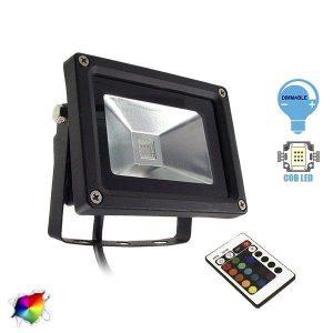 Προβολεις LED RGB 10Watt με ασυρματο χειριστηριο