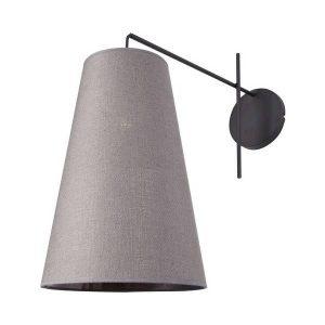 Nowodvorski Alanya Μοντέρνο Φωτιστικό Τοίχου με Γκρι Υφασμάτινο Καπέλο
