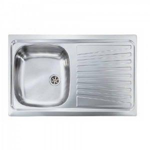 Sanitec Mondial 11561 Ανοξείδωτος Νεροχύτης Κουζίνας Σατινέ Αναστρέψιμος 79χ50