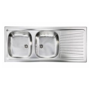 Sanitec Mondial 11567 Ανοξείδωτος Νεροχύτης Κουζίνας Σατινέ Αναστρέψιμος 116χ50