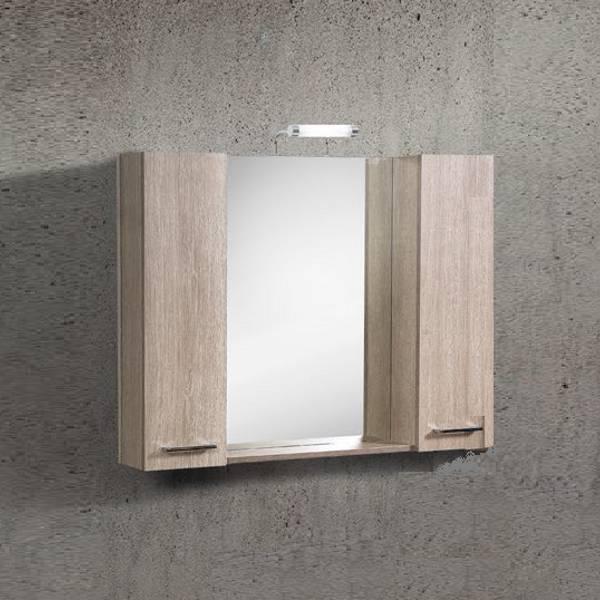 Flobali 80-100 Καθρέπτης Μπάνιου με 2 Ντουλάπια PVC