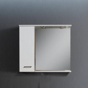 Flobali 70-105 Άσπρος MDF Καθρέπτης Μπάνιου με Ντουλάπι σε 8 Διαστάσεις
