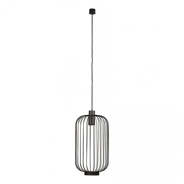 Nowodvorski 6844 Industrial Μαύρο Κρεμαστό Φωτιστικό με Πλέγμα Κλουβί