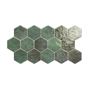 Hex Zellige Πράσινο Κυπαρισσί Πλακάκι με Εξάγωνα Σχέδια Γυαλιστερό 26,5χ51