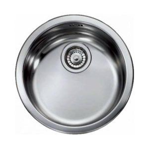 Sanitec Cinzia 11949 Στρογγυλός Νεροχύτης Κουζίνας Ανοξείδωτος Σατινέ Φ43,5