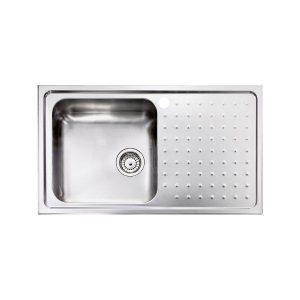 Sanitec Punto Plus 11113 Ανοξείδωτος Νεροχύτης Κουζίνας με Μεγάλη Γούρνα 86χ50