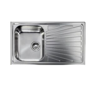 Sanitec Cometa Νεροχύτες Κουζίνας Ανοξείδωτοι Αναστρέψιμοι 86χ50