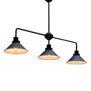 Nowodvorski 9150 Industrial 3φωτο Μαύρο Κρεμαστό Φωτιστικό με Καμπάνες