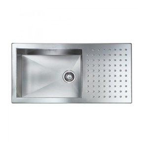 Sanitec Punto Quadra 10906 Ανοξείδωτος Νεροχύτης Κουζίνας Σατινέ 100χ50