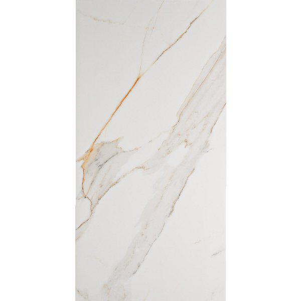 Natural White Gold Glossy Marble Effect