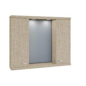 Καθρέφτης μπάνιου Beige με 2 ντουλάπια 75cm
