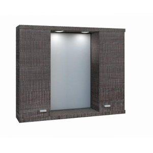 Καθρέφτης μπάνιου Dark Grey με 2 ντουλάπια 75cm