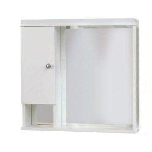 Καθρέφτης μπάνιου Λευκός με 1 ντουλάπι 60cm