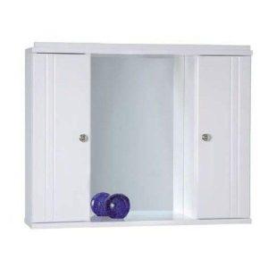 Καθρέφτης μπάνιου Λευκός με 2 ντουλάπια 65cm