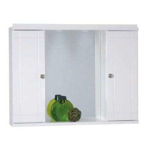 Καθρέφτης μπάνιου Λευκός με 2 ντουλάπια 70cm