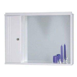 Καθρέφτης μπάνιου Λευκός με 1 ντουλάπι 70cm