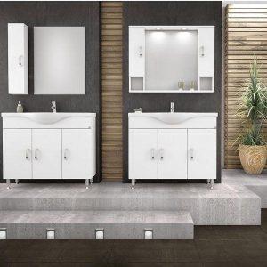 Έπιπλο μπάνιου ALBA 100 Λευκό