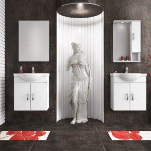 Έπιπλο μπάνιου ALBA 65 Λευκό